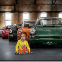 Любительница машинок и PORCHE CLASSIC. :: Anatol Livtsov
