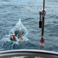 Мой нырок в Черном море. Прогулка на яхте, Адлер. Просто юмор...))) :: Михаил Поскотинов
