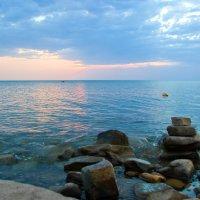 вечер на море :: Oksana Verkhoglyad
