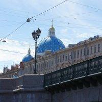 Измайловский мост. Видны купола Троицкого собора :: Елена Павлова (Смолова)