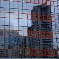 Стройка в клеточку. Отражение на здании СГЮА. :: Anatol Livtsov
