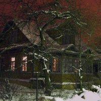 Старый сельский дом в центре Стрельны ночью. :: Владимир Ильич Батарин
