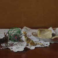 О сале,котах и мышке :: Наталья Джикидзе (Берёзина)