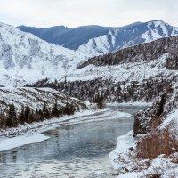 Зимний Алтай, река Катунь :: Александр Решетников