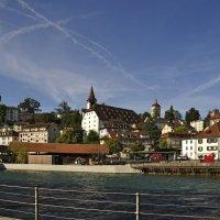 Река Ройс в Люцерне. Швейцария. Reuss River in Lucerne. Switzerland. :: Юрий Воронов