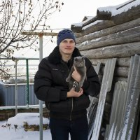 First day of winter on the steet for my cat :: Ksyusha Pav