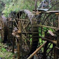Сложнейший демонстрационный комплекс водяных колёс в Чжанцзяцзе работает, как часы. :: Николай Карандашев