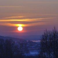Зимний рассвет :: Геннадий Г.