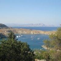 Греция. Вид на бухту Святого Павла от стен древнего акрополя. :: Лариса (Phinikia) Двойникова