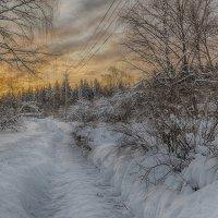 Закат в декабре :: Борис Устюжанин