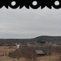 Вид с колокольни Рождественской церкви на д. Гимрека :: Елена Павлова (Смолова)