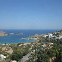 Греция. Линдос. Вид на бухту Святого Павла и город Линдос. :: Лариса (Phinikia) Двойникова