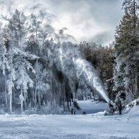 artist painting snow :: Dmitry Ozersky