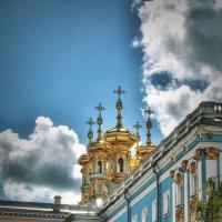 Купола церкви при Екатерининском дворце :: Julia Martinkova