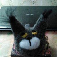 Моя работа в технике валяния из шерсти (Камышевый кот , а на ушах кичточки). :: Светлана Калмыкова