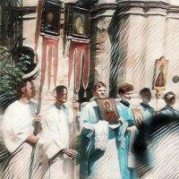 Глаз над крестный ход деаф симонов монастырь :: Михаил Филатов