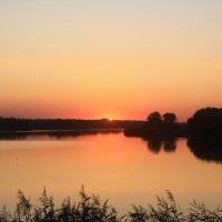 закат над озером :: Евгений Гузов