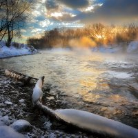 Речные закаты декабря....3 :: Андрей Войцехов