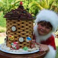 Сантёныш с новогодней башенкой. :: Лара Гамильтон