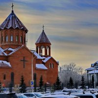 Прогулка по городу в морозный воскресный день 2. :: Пётр Сесекин