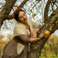 Осеннее яблоко... :: Сергей Мягченков