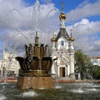 Фонтан «Каменный цветок» и часовня святой Екатерины :: Людмила Алексеева
