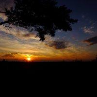 Закат солнца на Ладожскм озере :: Андрей Кротов