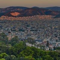 Вид на Афины с холма Филоппапу на рассвете :: Владимир Брагилевский