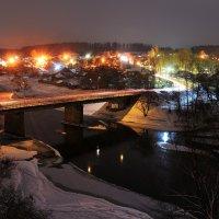 Зимняя река Руза - вечер :: Андрей Куприянов
