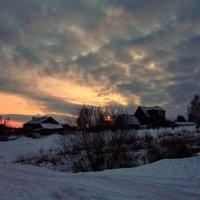 Ильинское.Зимний закат :: Валерий Талашов