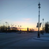 Морозное утро в Петербурге. :: Светлана Калмыкова