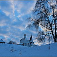 Январское небо в Тарусе :: vladost2010(Владимир) Постоев