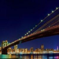 New York City  manhattan with  and brooklyn bridge :: Valentyn Semenov
