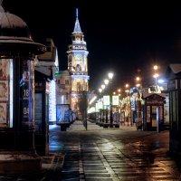 Новогодний Невский ночью. :: антонова надежда