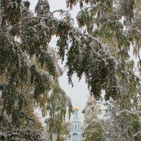 Снег на аллее к Храму :: Наталья Золотых-Сибирская