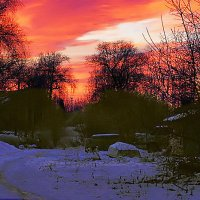 Огненный рассвет :: Валентина Ломакина