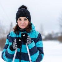 на лыжах :: Николай Колобов