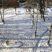 Зимний пейзаж под моим окном. :: Ульяна Загуменная