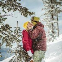 Влюбленные на сноуборде :: Павел и Валерия Красношлык