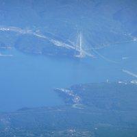 Под крылом самолета...Стамбул...и новый мост :: Ольга Васильева