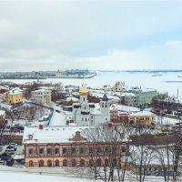 Вид на Нижний Новгород и Стрелку :: Ирина Лепнёва