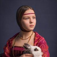 девочка с кроликом :: Татьяна Исаева-Каштанова