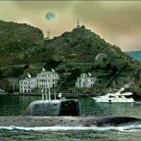 """Севастополь. Атомная подводная лодка """"Кондор"""" выходит из Балаклавской бухты на БС :: Кай-8 (Ярослав) Забелин"""