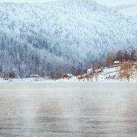 Маленькая деревушка на берегу Енисея (г.Дивногорск) :: Татьяна Афанасьева