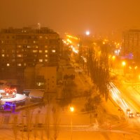 Ночь, улица, фонари, снегопад.... :: Ирина Холодная