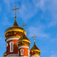 Золотые купола кафедрального собора Илии Пророка. :: Виктор Иванович
