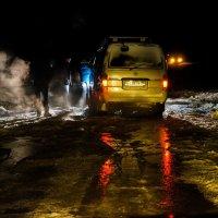 Ледяной прорыв! Затор на дороге! :: Ирина Антоновна