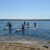 Обучение серфингу на SUP board (оз.Онтарио, Канада) :: Юрий Поляков