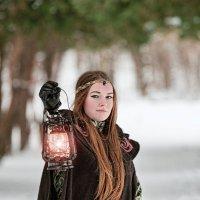 Лучик света в зимнем царстве... :: Сергей Гутерман