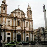 Церковь Сан Доменико  И колонна Девы непорочной :: Tata Wolf